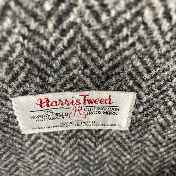 Harris Tweed Tag on Filson Harris Tweed Original Black Rugged Twill Wool Briefcase Style 70066