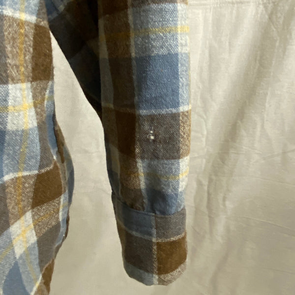 Left Arm Hole View on Vintage Blue & Grey Pendleton Board Shirt SZ XL