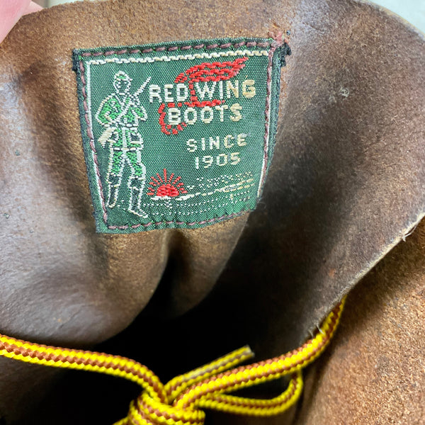 1953 Red Wing Label on Vintage 1950s Red Wing Moc Toe 877's Rare Size 9