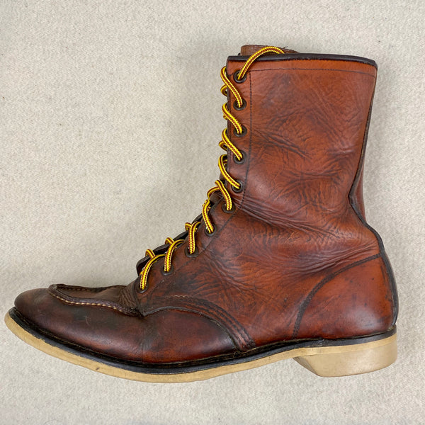 Left Vintage 1950s Red Wing Moc Toe 877's Rare Size 9