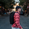 Nylon Commuter Backpack- Black