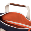 Medium Canvas Duffel Bag- Navy+Orange/Tan