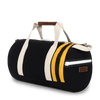 Medium Canvas Duffel Bag- Black/Yellow/Tan