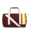 Medium Canvas Duffel Bag- Maroon+Yellow/Tan