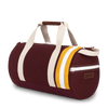 Medium Canvas Duffel Bag- Maroon/Yellow/Tan