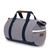 Large Canvas Duffel Bag- Grey/Navy