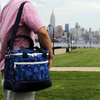 Medium Canvas Cooler Bag- Camo/Navy