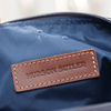Nylon and Leather Toiletry Bag - Charcoal Grey/Whiskey Brown