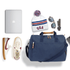 Medium Nylon Duffel Bag with Shoe Compartment - Navy/Navy