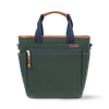 Large Waxed Canvas and Leather Cooler Bag- Hunter Green/Whiskey Brown