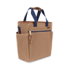 Large Waxed Canvas and Leather Cooler Bag- Tan/Whiskey Brown