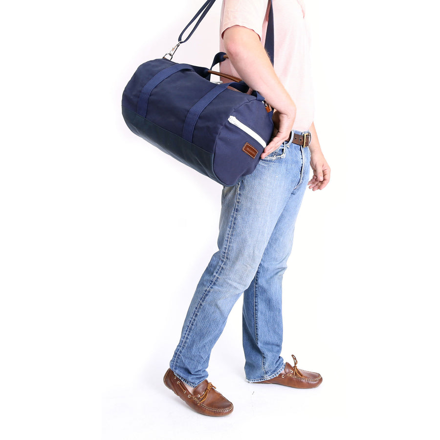 Medium Canvas Duffel Bag- Navy/Navy
