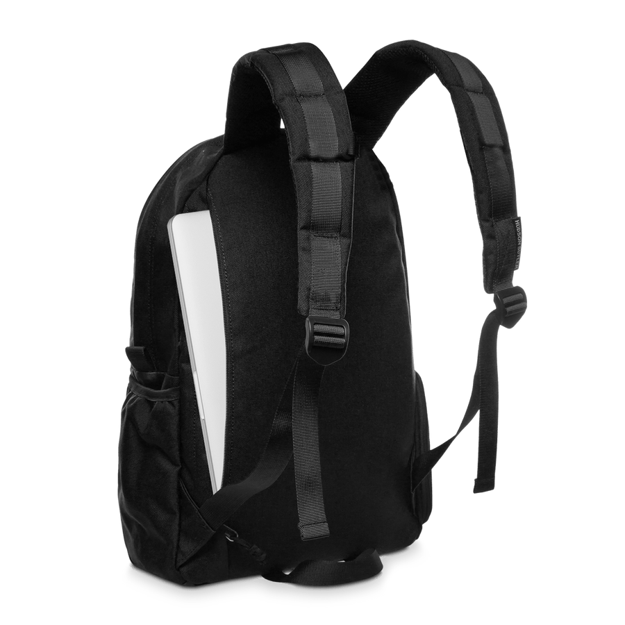 Nylon Daily Backpack- Black