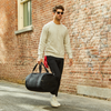 Large Canvas Duffel Bag- Black/Black