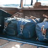 Large Waxed Canvas and Leather Duffel Bag- Hunter Green/Whiskey Brown