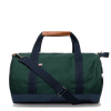 Large Canvas Duffel Bag- Hunter Green/Navy