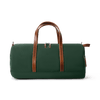 Medium Nylon and Leather Duffel - Hunter Green/Whiskey Brown