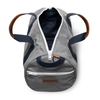 Medium Canvas Duffel Bag- Grey/Navy