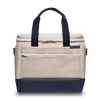 Medium Canvas Cooler Bag - Natural/Navy