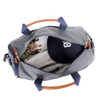 Medium Nylon Duffel Bag with Shoe Compartment - Grey/Navy