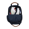 Nylon and Leather Golf Shoe Bag - Navy/Navy