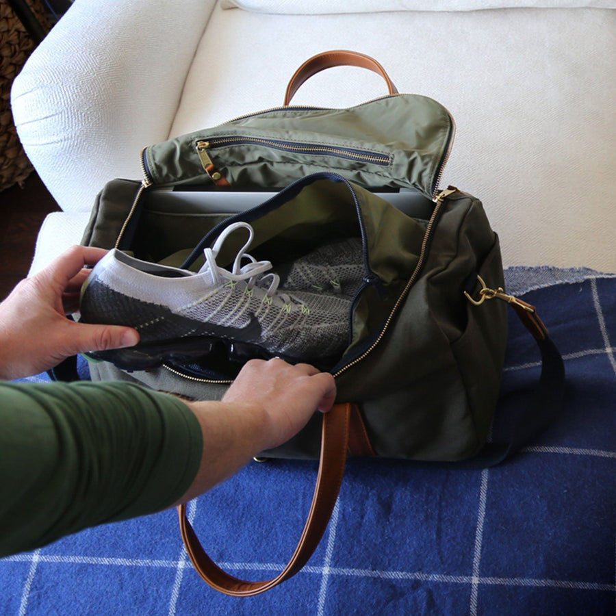 Heritage Commuter Duffel - Olive Green - Hudson Sutler - Made in USA