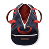 Medium Canvas Duffel Bag- Navy/Red