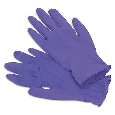 Purple Nitrile Gloves, Large, 100 Count