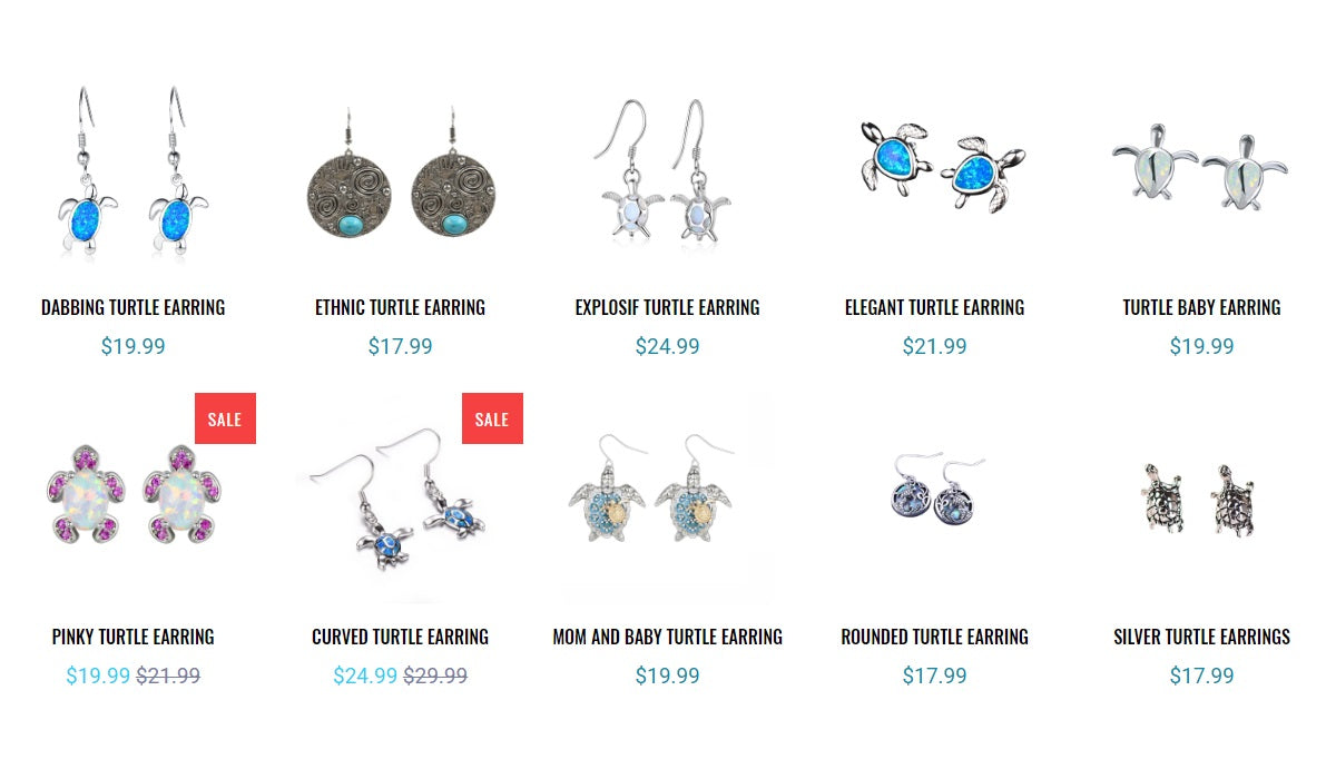 Turtle Earrings Collection