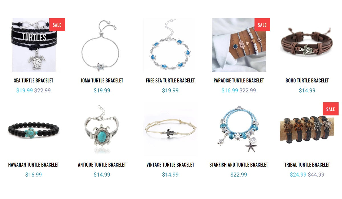 Turtle Bracelets Collections