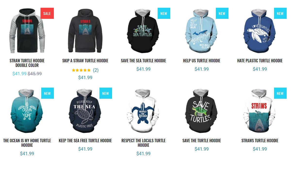 Turtle Hoodies Collection