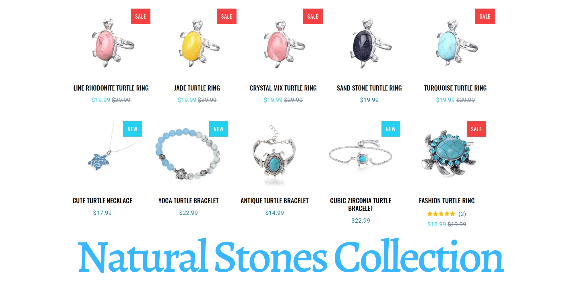 Natural Stones Collection - Turtle Store