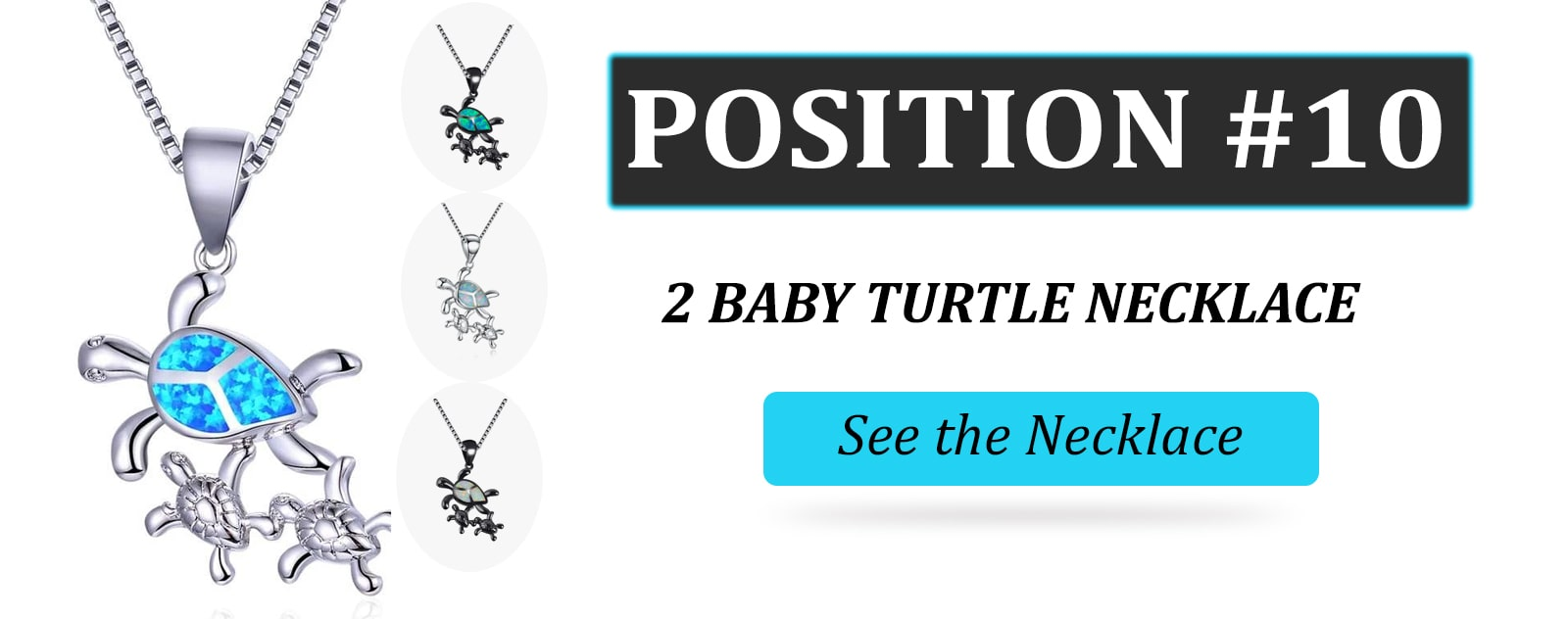2 Baby Turtle Necklace - Turtle Store