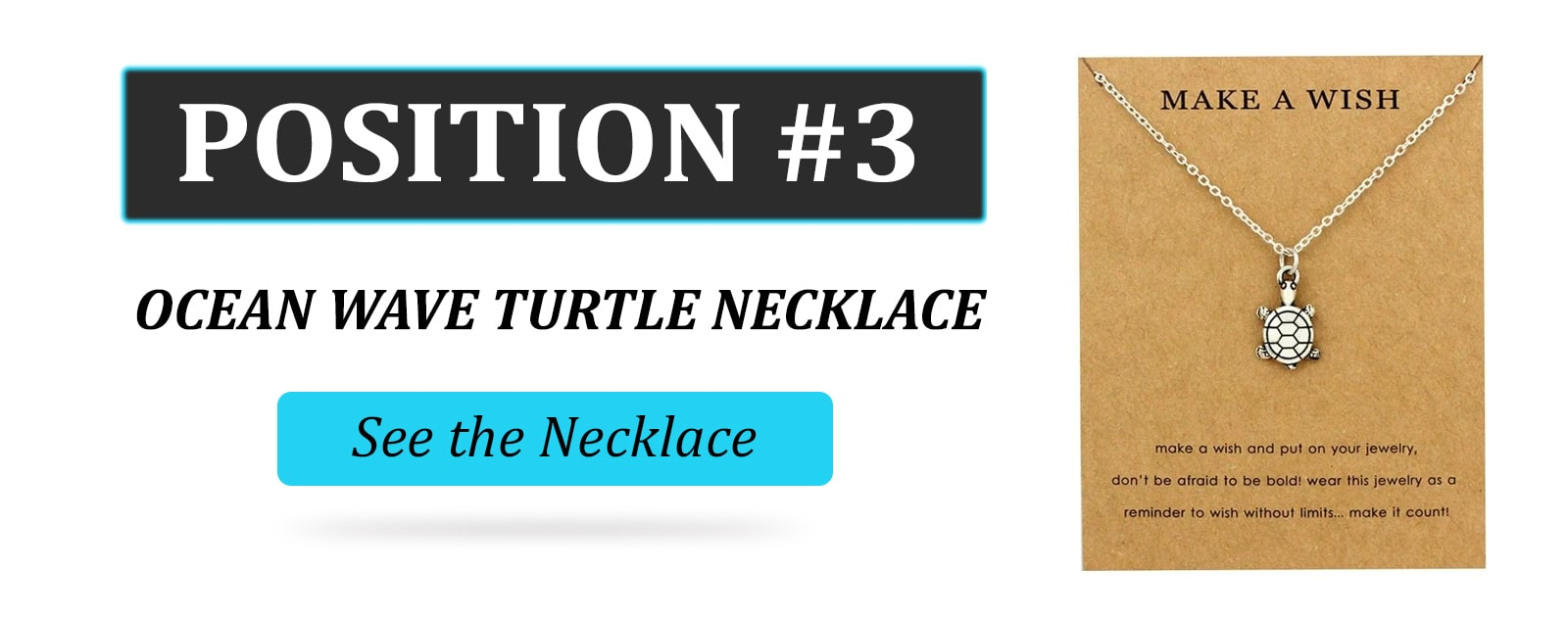Ocean wave turtle necklace