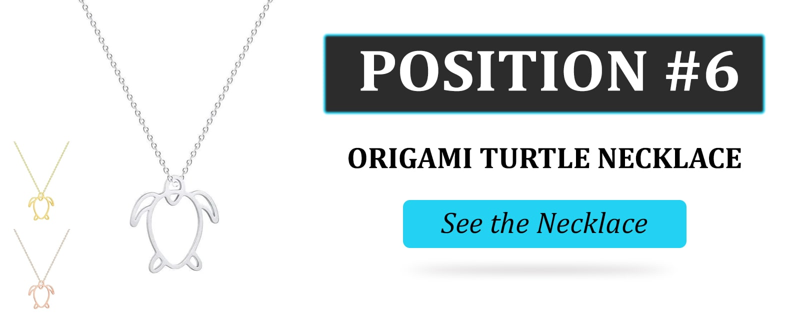 ORIGAMI TURTLE NECKLACE