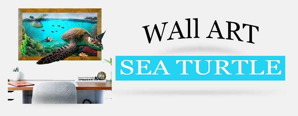 Wall art Sea turtle