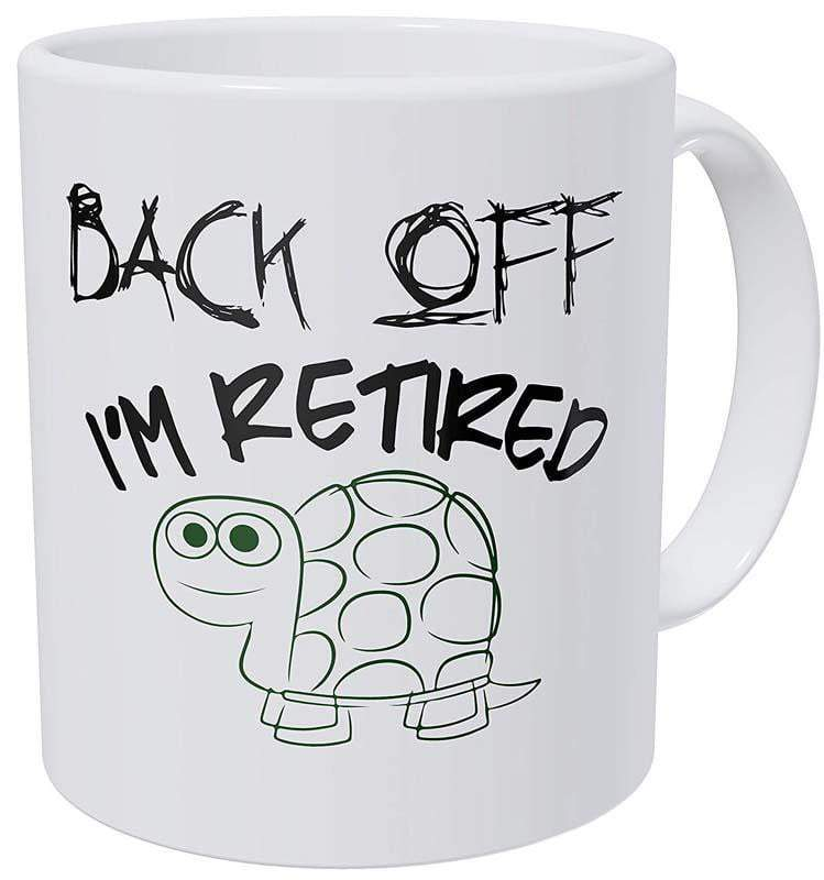 Back Off I'm Retired Turtle Mug - Turtle Store