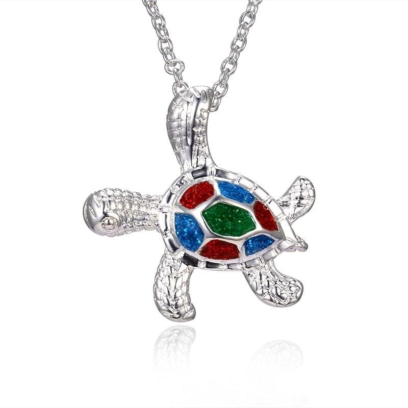 Colorfull Turtle Necklace - Turtle Store