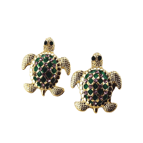Contracted Turtle Earrings - Turtle Store