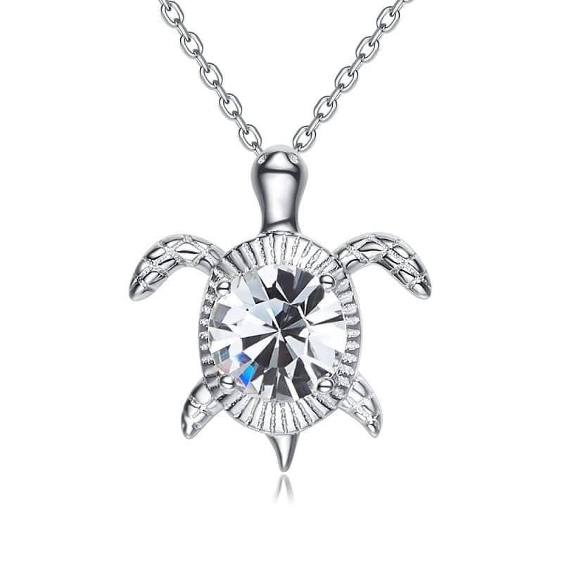 Crystal Turtle Necklace - Turtle Store