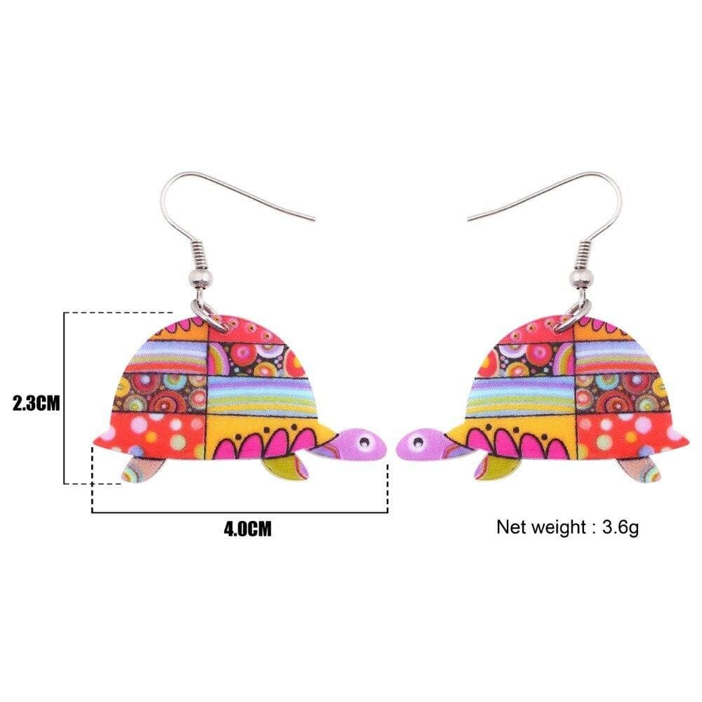Floral Turtle Earring - Turtle Store