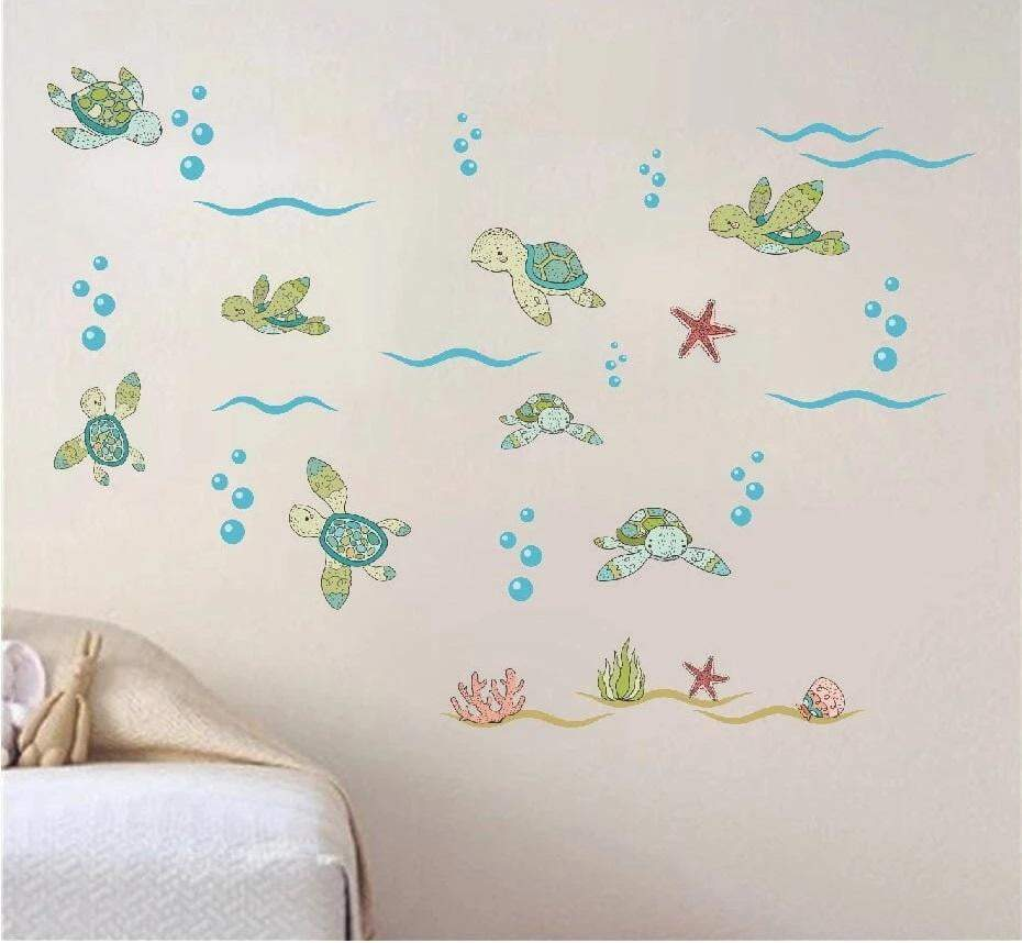 Kids Room Turtle Sticker - Turtle Store