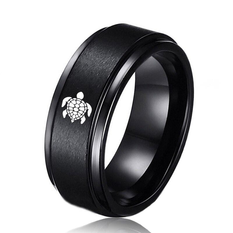 Men Tungstene Turtle Ring - Turtle Store