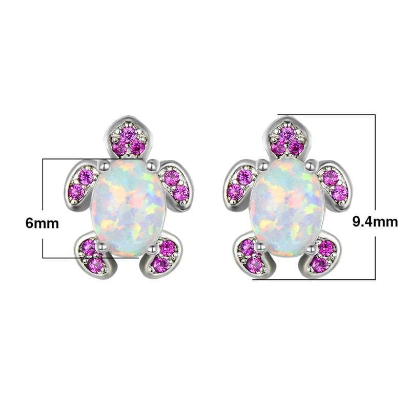 Pinky Turtle Earring sizes