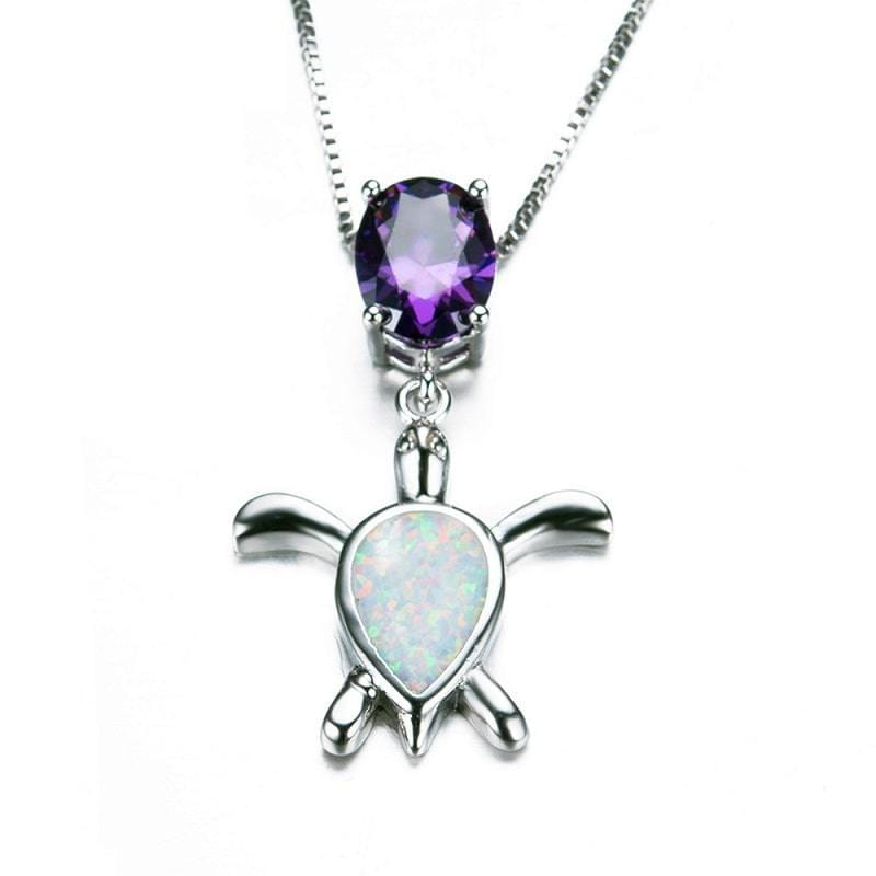 Purple Pearl Turtle Necklace - Turtle Store