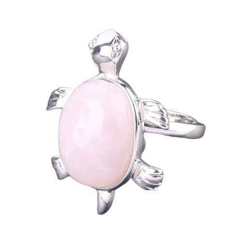 Rose Quartz Turtle Ring - Turtle Store