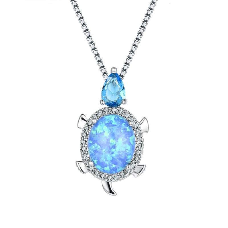 Sea Opal Necklace - Turtle Store