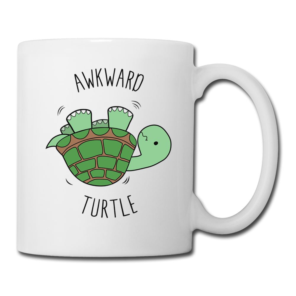 Awkward Turtle Mug Coffee - white
