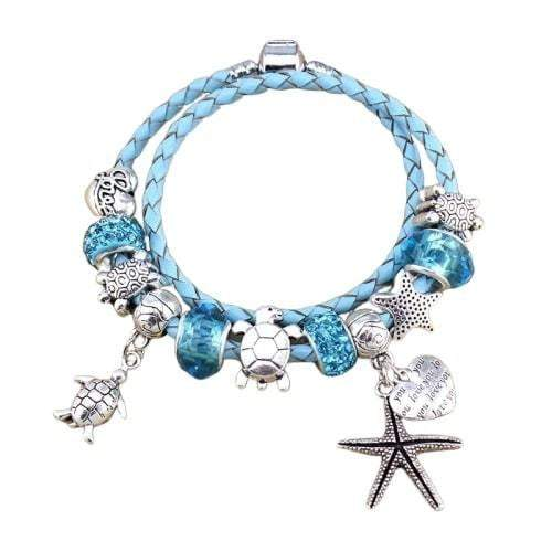 Starfish and Turtle Bracelet - Turtle Store