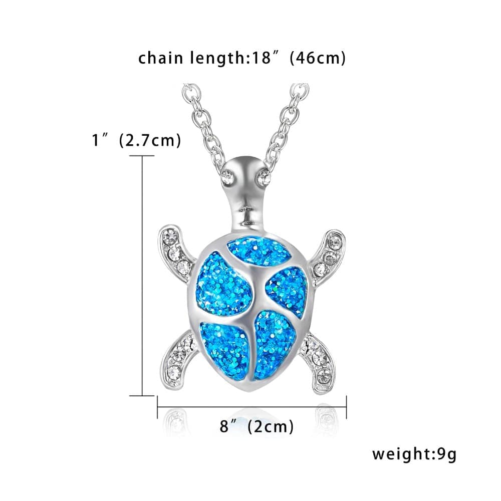 Tiny Turtle Necklace Size Pendent